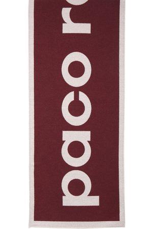 Paco rabanne Schal Aus Wollstrick Mit Logo