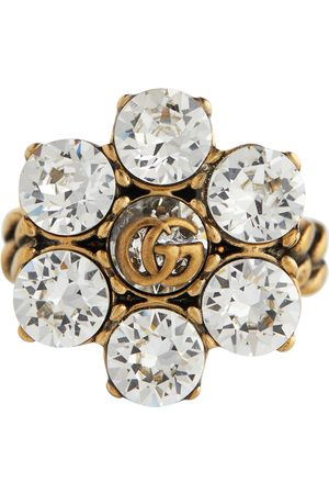 Gucci Ring Double G mit Blumenverzierung