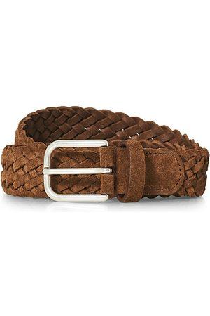 Anderson's Woven Suede Belt 3 cm Light Brown