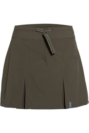 me°ru' Leicht ausgestellter Schnitt. Integrierte Hose. Taillenbund mit Tunnelzug. Schließt mit Haken und Reißverschluss. Kellerfalten vorn und hinten. Tasche vorn. Label-Badge am Saum. Maße bei Größe 36:- Gesamtlänge mit Bund: 41 cm
