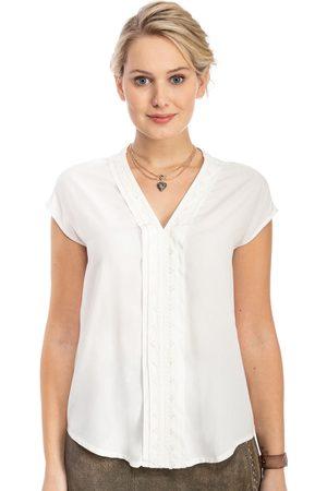 MARJO Damen Trachtenblusen - Bluse ohne Arm LOTTA-DIANA offwhite