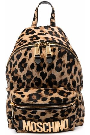 Moschino Kleiner Rucksack mit Leoparden-Print