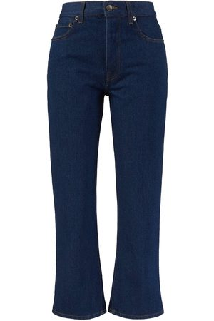 The Row Damen Cropped - Cropped Straight-Leg-Jeans 'Lesley' Dunkelblau