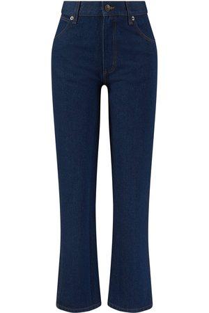 The Row Damen Cropped - Straight-Leg-Jeans 'Slimin' Dunkelblau