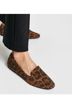 ASOS Wide Fit – Lakeside – Ballerinas mit Leopardenmuster-Mehrfarbig