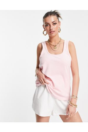 Rhythm Damen T-Shirts, Polos & Longsleeves - – Exklusives Top aus Frotteematerial in Rosépink, Kombiteil