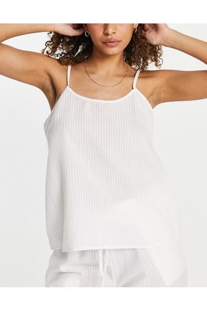 Loungeable – Mix and Match – Seersucker-Pyjama-Camisole in