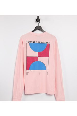 COLLUSION – Unisex – Langärmliges Oversize-Pikee-Shirt mit Print in Acid-Waschung