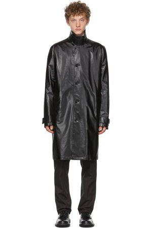 Bottega Veneta Black Coated Canvas Trench Coat