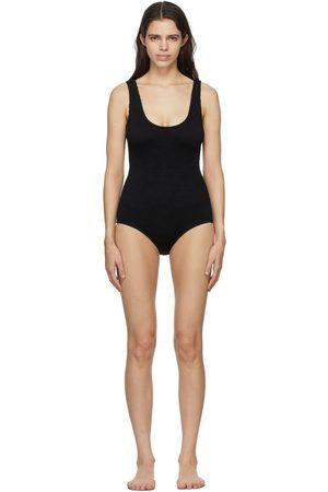 Bottega Veneta Black Crinkled One-Piece Swimsuit