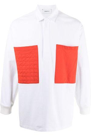 Ports V Poloshirt mit Tasche