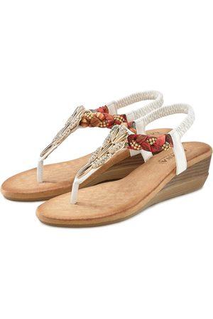 Lascana Sandalette mit Strasssteinchen und elastischen Riemen