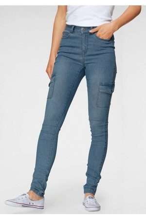 Arizona Skinny-fit-Jeans »Ultra Stretch« High Waist mit Cargotaschen