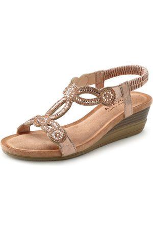 LASCANA Sandale mit Schmucksteinen und elastischen Riemen