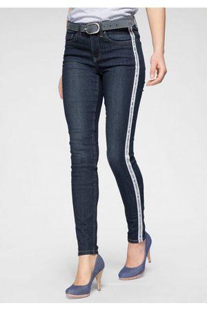 ARIZONA Slim-fit-Jeans High Waist mit coolem Seitenstreifen - NEUE KOLLEKTION