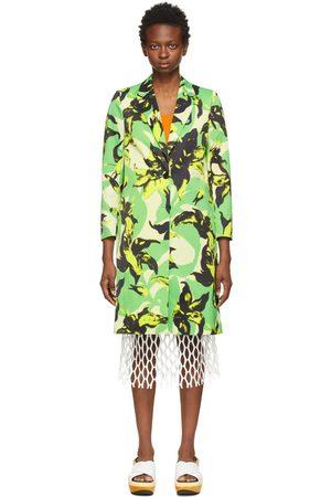 DRIES VAN NOTEN Damen Mäntel - Green Len Lye Edition Floral Print Coat
