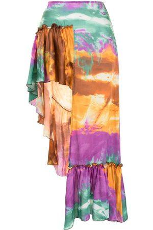 WANDERING Damen Röcke - Asymmetrischer Batikrock