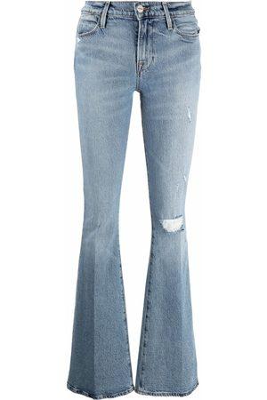 Frame Damen Bootcut - Ausgestellte Jeans im Distressed-Look