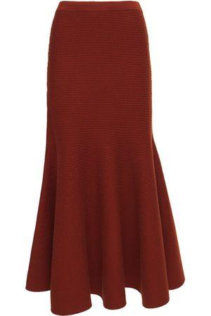 GABRIELA HEARST Damen Midiröcke - Olive Wool Knit Rib Midi Skirt
