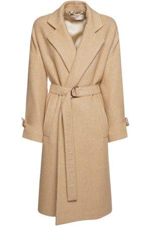 Agnona Brushed Corduroy Coat W/ Belt