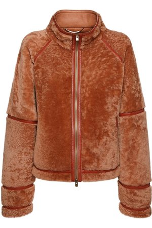 Agnona Shearling & Leather Biker Jacket