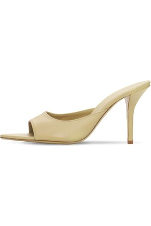 GIA Damen Sandalen - 85mm Hohe Mulesschuhe Aus Leder