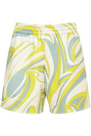 Emilio Pucci Damen Shorts - Bedruckte Mini-shorts Aus Bio-baumwolljersey