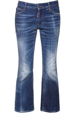 Dsquared2 Damen Cropped - Kürzere Jeans Aus Baumwolldenim