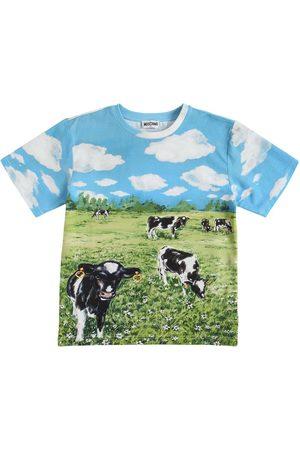 Moschino Bedrucktes T-shirt Aus Baumwolljersey