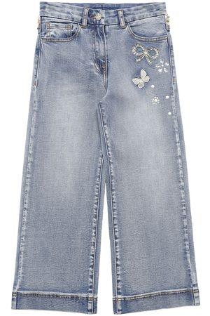 MONNALISA Jeans Aus Baumwolldenim Mit Weitem Bein