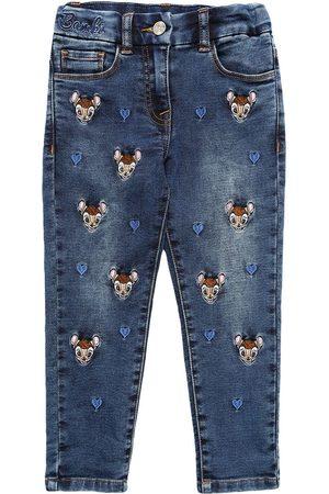 MONNALISA Jeans Aus Stretch- Mit Bambimotiv