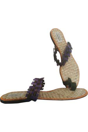 Philosophy di Alberta Ferretti Leder Flip-flops