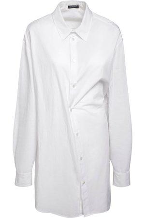 "ANN DEMEULEMEESTER Oversized Bluse Aus Baumwollpopeline ""do"""