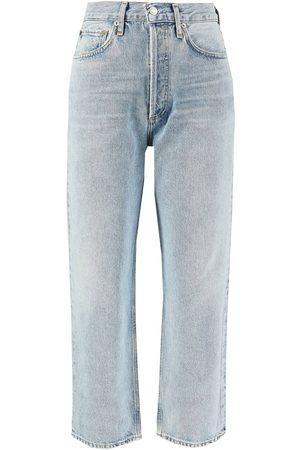 AGOLDE Jeans '90's Crop' in Hellblau