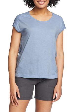 Eddie Bauer Damen T-Shirts - Gatecheck T-Shirt mit Stickereien Damen Gr. XS