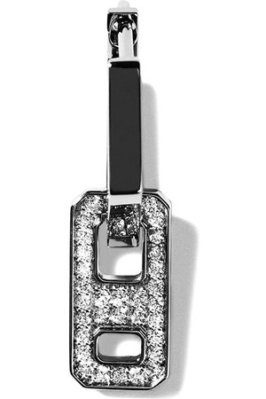 AS29 Damen Ohrringe - 18kt DNA Schwarzgold-Hängeohrringe mit Diamanten