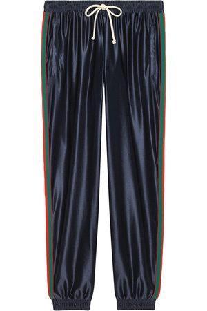 Gucci Herren Lange Hosen - Jogginghose mit Webstreifen