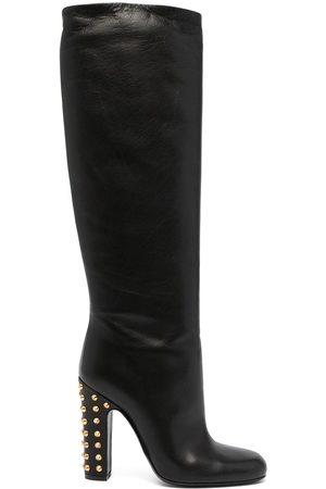 Gucci Damen Stiefeletten - Kniehohe Stiefel mit Nieten