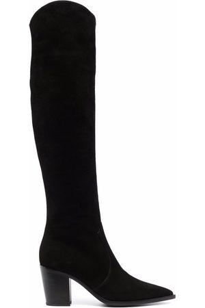 Gianvito Rossi Damen Overknees - Overknee-Stiefel mit spitzer Kappe
