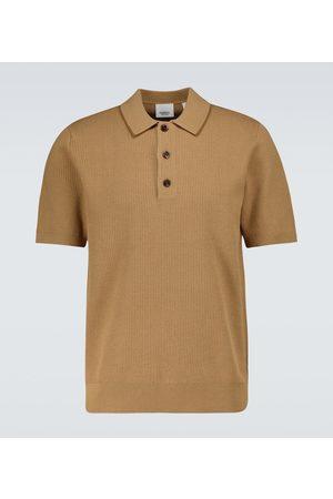 Burberry T-Shirts - Poloshirt Selwin aus einem Seidengemisch