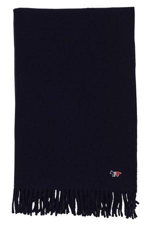 Maison Kitsune Herren Schals - Schal mit dreifarbigem Fuchsaufnäher