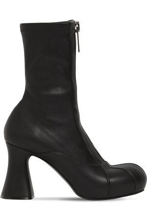 Stella McCartney Damen Stiefeletten - 80mm Groove Faux Leather Ankle Boots
