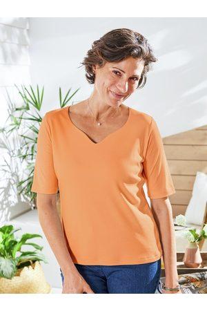 Avena Damen Baumwoll-Shirt Herzausschnitt