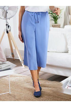 Avena Damen Hosen-Rock Hellblau einfarbig