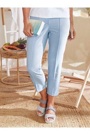 Avena Damen Capris - Damen 7/8-Schlupfbundhose Perfekt-in-Form Hellblau
