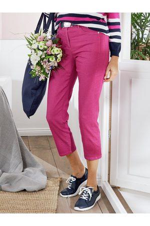 Avena Damen 7/8-Baumwollhose Macht-mich-schlank Rose