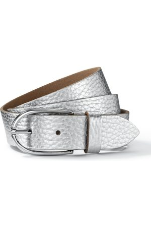 Avena Damen Leder-Gürtel Weiss einfarbig