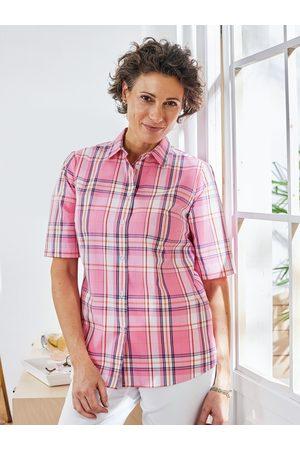 Avena Damen Hemd-Bluse Rose kariert