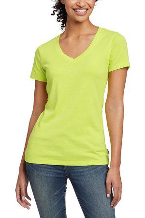 Eddie Bauer Favorite Shirt - Kurzarm mit V-Ausschnitt Damen Grün Gr. L
