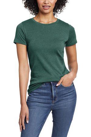 Eddie Bauer Favorite Shirt - Kurzarm mit Rundhalsausschnitt Damen Grün Gr. L